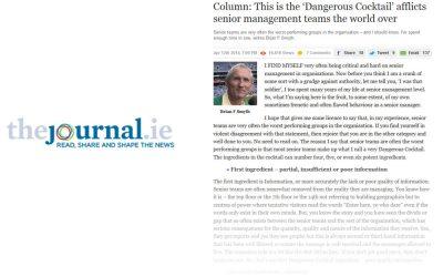 The dangerous cocktail – Senior Management Teams Challenge